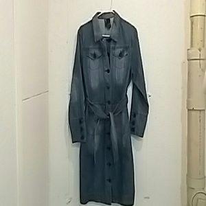 Bisou Bisou long jean jacket...Size large